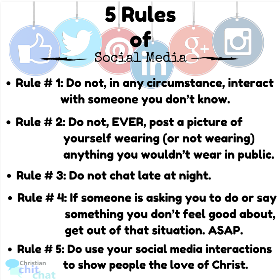 5 Rules of Social Media Printable